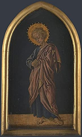 The Museum Outlet - Jacopo di Antonio (Master of Pratovecchio) - Saint John the Evangelist - Altarpiece Pinnacle (right), Stretched Canvas Gallery Wrapped.