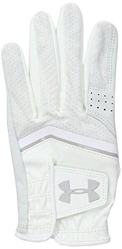 Under Armour Damen CoolSwitch Golf Handschuhe, White/Aluminum, RLG -