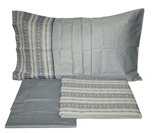 Ikat COL. 5Hellblau komplett Bettbezug Doppelbett Maxi Fazzini