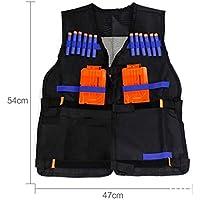 LOTONJT Chaleco táctico Negro , Chaleco táctico Militar Chaleco Ajustable para los Accesorios de Pistola