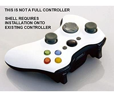 Xbox 360 Wireless Controller Shell/DPad/LEDs/White Blck