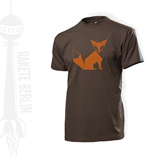 Herren T-Shirt 'Fuchs Origami' Baumwolle