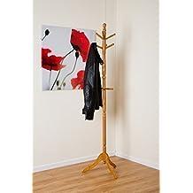 zeuxs cleo perchero de madera rbol con ganchos u madera slida