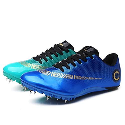 HYGLPXD Zapato De Sprint Profesional para Atletismo para Jóvenes, 8 Clavos para...