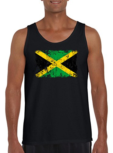Touchlines Merchandise TLM Jamaika Vintage Flagge Fahne Tank Top Muskelshirt Herren L ()