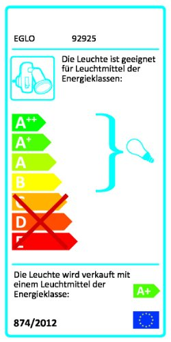 Eglo MINI 4 - Lámpara (Cepillado, Dormitorio, Interior, GU10, LED, 2.5W) Plata, Color blanco