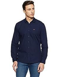 Wrangler Men's Solid Slim Fit Casual Shirt