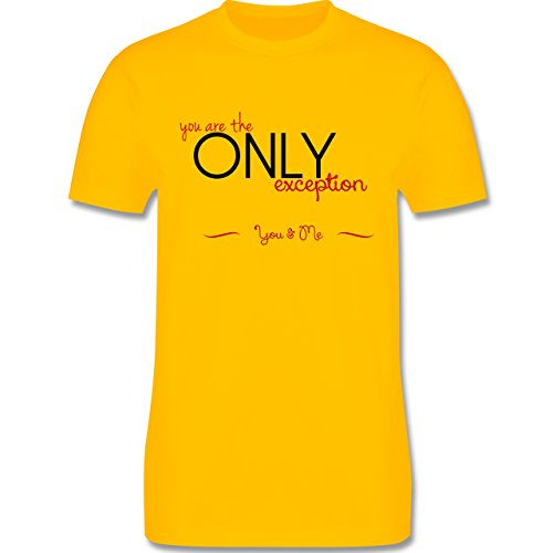 Statement Shirts - You Are The Only Exception - Herren Premium T-Shirt Gelb