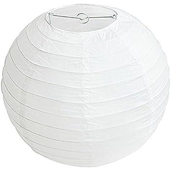 Lukis Lot 3 Pcs Lanterne Rond DIY Manuel Artisanat F/ête en Papier Taille 50cm//40cm Boule Chinoises Lampion Blance pour D/écorations Mariage Maison F/ête Noir 30cm