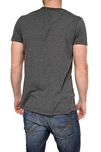 Phazz Brand Munich Herren Shirt Motiv T-Shirt RUSTY, Farbe: Dunkelgrau Dunkelgrau