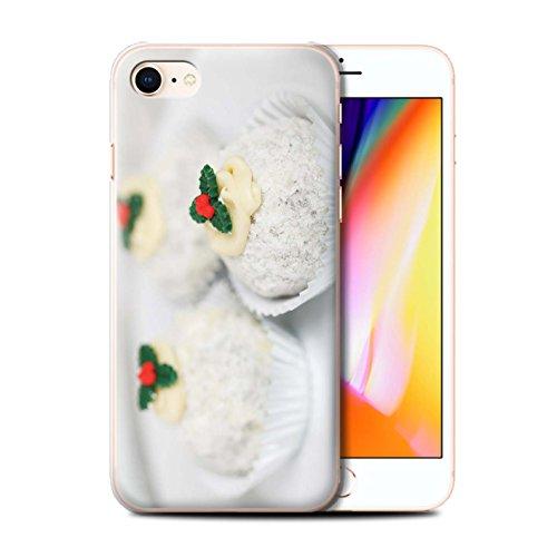 Stuff4 Hülle / Case für Apple iPhone 8 / Mince Kuchen Muster / Weihnachten Essen Kollektion Weiße Kuchen