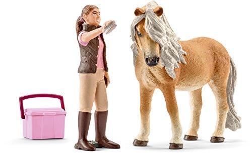 Preisvergleich Produktbild Schleich 41431 - Pferdepflegerin mit Island Pony Stute Figur