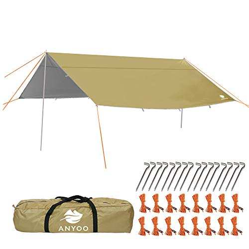Anyoo Ripstop Regen Schutzdach Strand Zelt Hängematte Sonnenschutz Leichter Wasserdichter Schutz Für Camping Wandern -