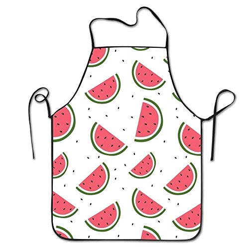KLYDH Personalized Aprons Watermelon Fruits \r\n Drill Adjustable Durable String Apron Black N White Womens Jacket