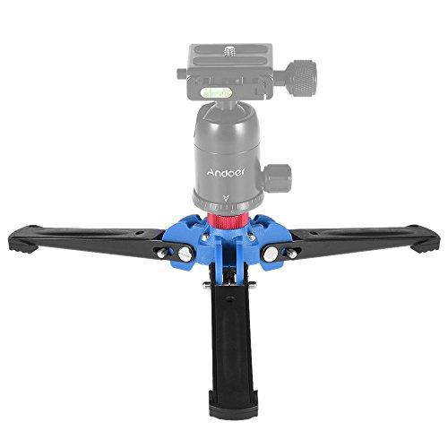 """Andoer Kamera Stativ Mini Tripod DREI Bein Fotografie Einbeinstativ Einbeinstativ Standfuß-Halter-Unterstützung mit 3/8""""Schraube für Stativ Fluid-Kugelkopf"""