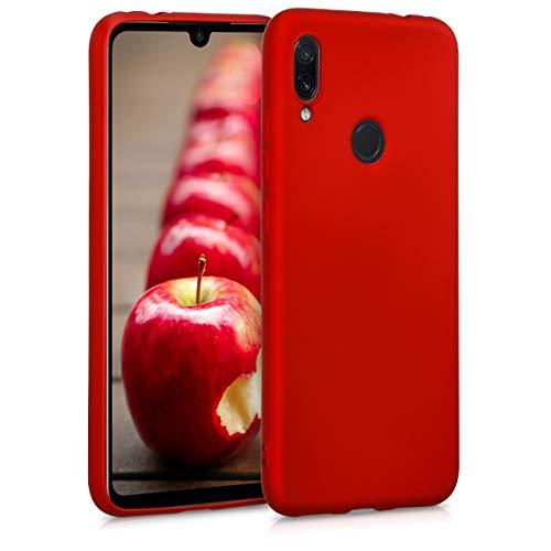 kwmobile Funda para Xiaomi Redmi Note 7 / Note 7 Pro - Carcasa para móvil en TPU Silicona - Protector Trasero en Rojo Oscuro Metalizado