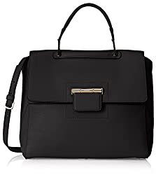 Furla Artesia Medium Leather Top Handle Satchel - Onyx