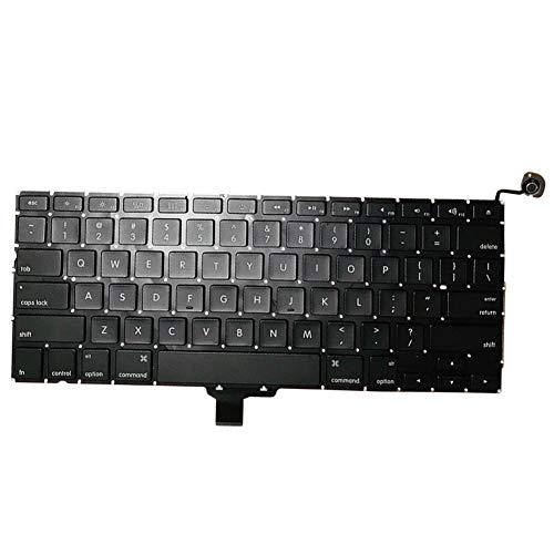 6SlonHy Robuster Ersatz-Laptop mit geräuscharmer Hintergrundbeleuchtung im US-Layout für MacBook Pro 13 Zoll 2009-2012 A1278 Schwarz Regulär (Ersatz-schlüssel Für Macbook Pro)
