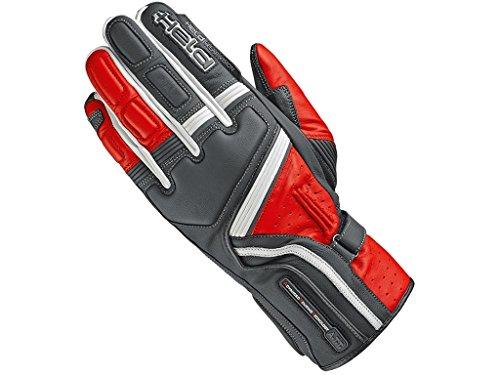 Held Motorradschutzhandschuhe, Motorradhandschuhe lang Travel 5 Handschuh schwarz/rot 10, Herren, Sportler, Sommer, Leder