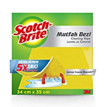 Scotch-Brite Sarı Mutfak Bezi, 3'lü Paket