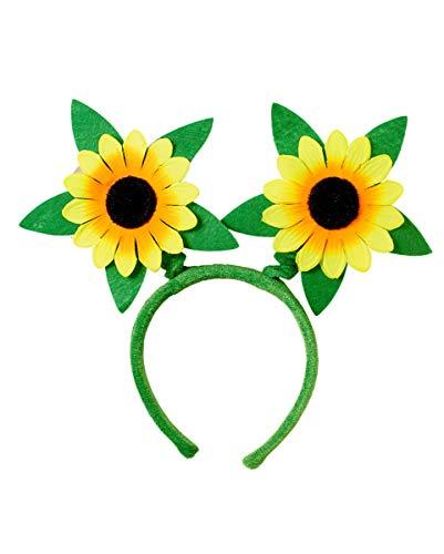 Kostüm Frühlingsfee Kind - Horror-Shop Frühlings Haarreifen Sonnenblume für Karneval, Fasching & Motto Party