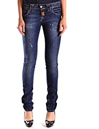 Galliano Damen MCBI130057O Blau Baumwolle Jeans