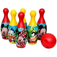 VAIKUNTH Enterprise 6 Pins 1 Ball Plastic Bowling Set for Indoor & Outdoor Games for Kids Children boy & Girl