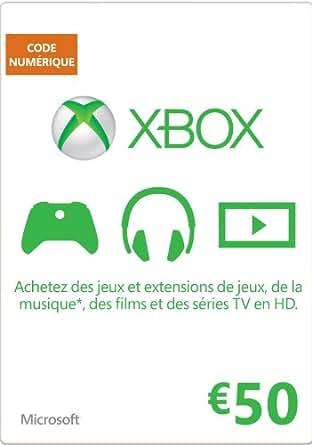 Carte Xbox Live de 50 EUR [Code Digital - Xbox Live]