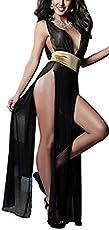 Itspleazure Women's Polyester Sleepwear Gown Belt (Itspleazure_K-260013, Black, Free Size)