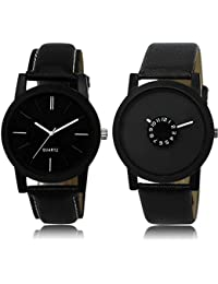 R P S Fashion Analogue Black Dial Men's Watch, Pack of 2