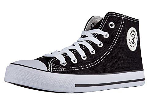shinmax-stagionale-scarpe-da-ginnastica-alte-formatori-tela-unisex-scarpe-casual-39-nero