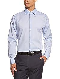 Seidensticker Herren Businesshemd Tailored Langarm mit Kent-Kragen und Umschlagmanschette aber ohne Manschettenknöpfe bügelfrei,