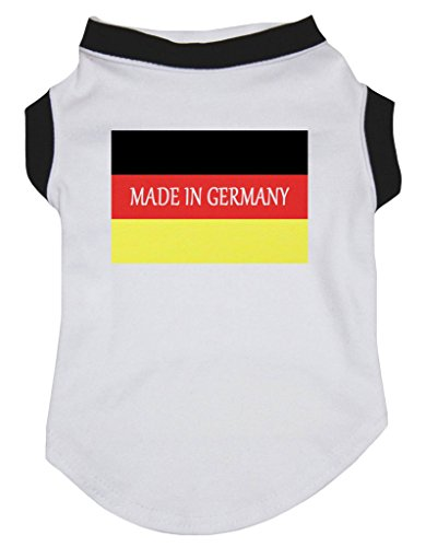 Petitebelle Hundebekleidung Made in Germany Nationalflagge weiß Baumwolle Shirt
