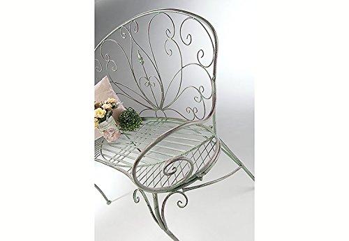 Kobolo Metall-Sitzbank mit Ornamenten Metallbank - 3