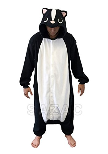 Sazac Kigurumi Stinktier Einteiler (Skunk Kostüm)