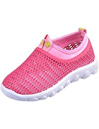 Breathable Mesh Aqua Beach Shoes Closed Toe Sandals Sport Sneakers For Walking Running Kids (Toddler/Little Kid/Big Kid)