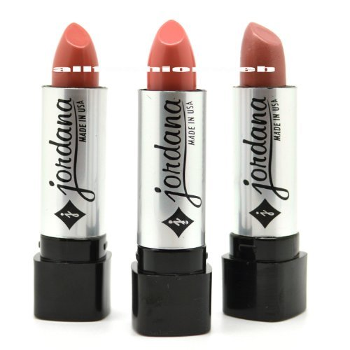 JORDANA LIPSTICK LOT OF 3 - NATURAL NUDE COCO SHADE SET ! MADE IN USA + FREE EARRING by Jordana