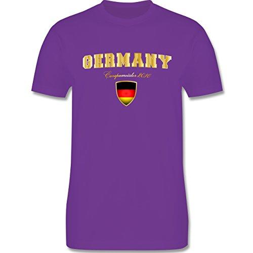 EM 2016 - Frankreich - Germany Europameister 2016 - Herren Premium T-Shirt Lila