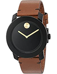 Movado Men's Swiss Quartz Stainless Steel And Leather Watch Color: Brown (Model: 3600305)