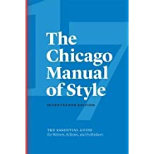 CHICAGO MANUAL OF STYLE 17TH /