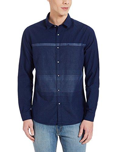 John Miller Hangout Men's Casual Shirt (8907372582153_1VS05502_40_Navy)