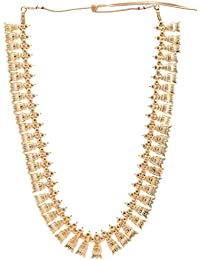 Preethi Gold Plated Gold Metal Chain Necklace For Women (Preethi_44)