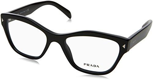 Prada - PRADA PR 27SV, Schmetterling, Acetat, Damenbrillen, BLACK(1AB-1O1), 51/17/140