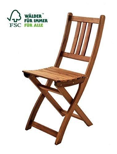 SAM® Gartenstuhl Blossom, Akazie-Holz, Holzstuhl, ideal für Balkon Garten Terrasse, zusammenklappbar, FSC® 100% zertifiziert