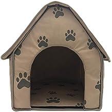 Casitas para Gatos Perros Desmontable Plegable Cama portátil de ladrillo para Mascotas, Mascotas, Gatos