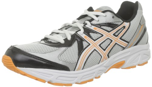 Asics Patriot 5, Chaussures de sport homme Blanc (White/Orange Flame/Black)