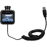 Speciale Cavo USB a Spirale per Sincronizzazione Dati e Caricamento compatibile con Garmin Dash Cam 10 / 20 Realizzato con TipExchange