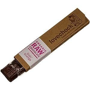 Lovechock - Barretta di cioccolato crudo biologico con bacche di goji/arancia