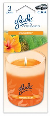 Preisvergleich Produktbild AUTO EXPRESSIONS LLC - Car Air Freshener,  Candle With Hawaiian Breeze Scent 3-Pk