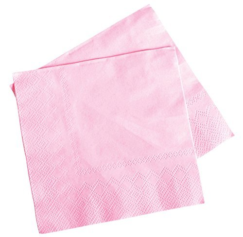 Bar Island Light (Lot Of 50 Light Pink Beverage Bar Baby Shower Party Napkins - 5 by Rhode Island Novelty)